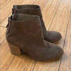 Urban Outfitters Tan Faux Suede Ankle Booties